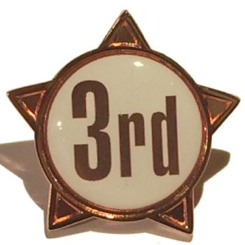 3rd titled star shape badge